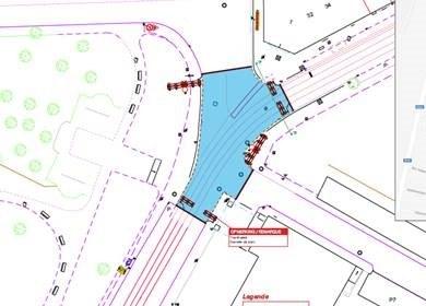 plan chaussée Bxl chantier STIB