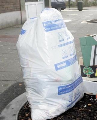 collecte poubelle blanc