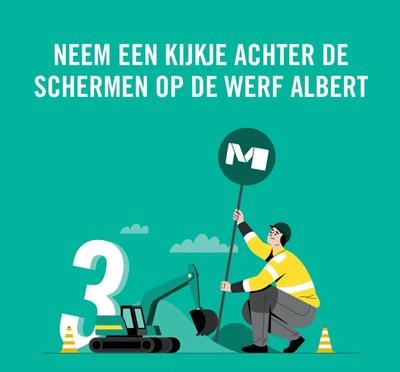 STIB Chantier Albert NL
