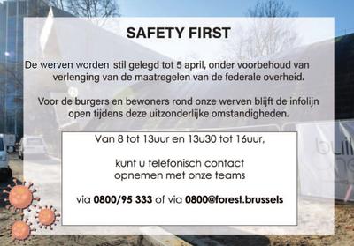 arrêt chantiers NL